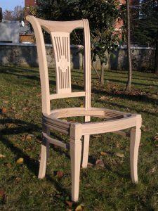 Arredamento Classico e in Stile sedia legno fusto grezzo artigianale